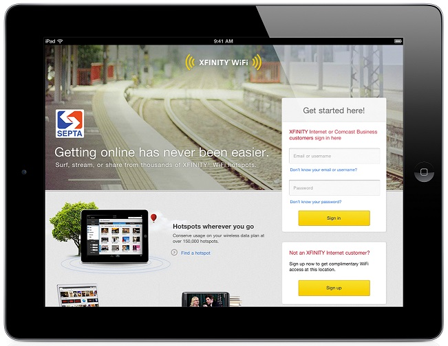 Xfinity WiFi Hotspots Open for SEPTA Rail Commuters