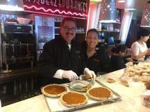 Angel Ramos and Gloria Alvarez add some pie!